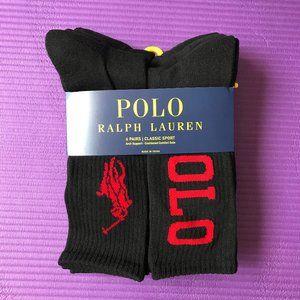 Polo Ralph Lauren 6 Pairs Men's Cushion Crew Socks